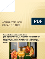 ARTISTAS LATINOAMERICANOS