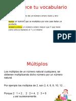 Factores y Multiplos
