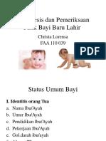 Anamnesis Dan Pemeriksaan Fisik Bayi Baru Lahir - Christa Lorenza