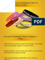 Choose the Awareness Wristbands Colors to Support a Cause