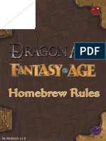 Fantasy Age - Abdanck's Homebrew Rules