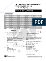 NTSE Stage 2 2015 SAT Solution