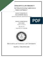 Kevin James Semester VI 76 Administrative Law Project