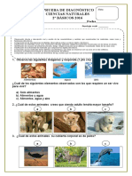 Evaluacion Diagnostiva Ciencias Naturales 2016