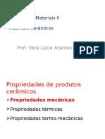 Propriedades Mecânicas dos Materiais Cerâmicos