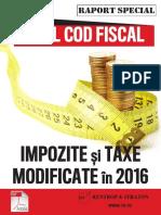 Noul Cod Fiscal - Impozite Si Taxe Modificate in 2016