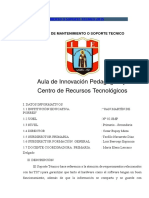 PLAN DE MANTENIMIENTO O SOPORTE TECNICO 2015.docx