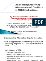 Presentation to EA Summit on ADR