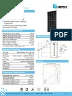 100 Watt 12 Volt Monocrystalline Solar Panel Specifications
