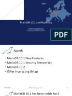 MariaDB 10.1 and Roadmap
