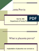 Placenta Previa Abruptio