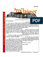 April 2016 Proclaimer
