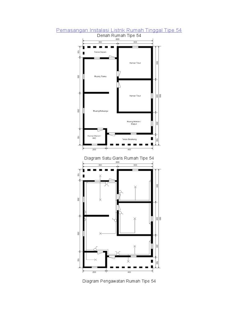 Pemasangan instalasi listrik rumah tinggal tipe 54 ccuart Choice Image