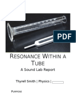 Resonace Within a Tube Lab