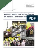 Rapport moral et d'activités 2015