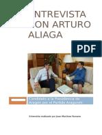 Entrevista Con Arturo Aliaga