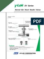PRODUvCTS-VALVES-NEEDLE-5-2. SV Series Integral Bonnet Bar Stock Needle Valves