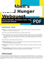world hunger web quest