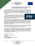 Jefa de la MOE UE en Perú visitará Arequipa y Cuzco
