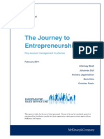 21. the Journey to Entrepreneurship Key Account Management in Pharma