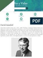 Biografia de David Ausubel