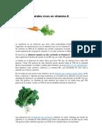 Alimentos Vegetales Ricos en Vitamina A
