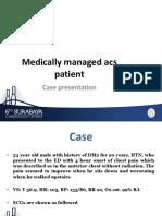 3.3 Case Presentation - Medically Managed ACS - Dr. Triandika Sp.jp