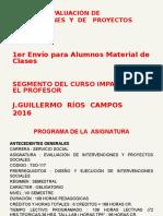 Curso de Evaluación de Intervenciones y de Proyectos Sociales 1ro. Para Alumnos 2016