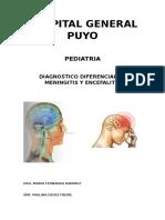Cuadro Diferencial de Meningitis y Encefalitis