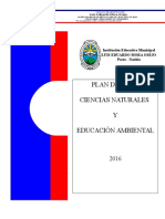 Plan de Area Ciencias Naturales y Ed. Ambiental 2016