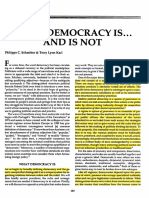 What Democracy is and is Not