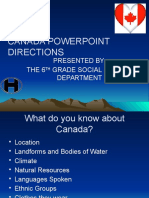 canada geography ppt