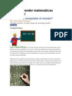 Como Aprender Matematicas Facimente