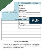 cuestionario socioeconómico