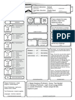 Bumble Character Sheet