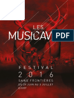 Musicaves 2016 - Le Programme