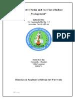 Constructive Notice and Doctrine of Indoor Management