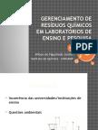 Gerenciamento de Resíduos Químicos Em Laboratórios de Ensino