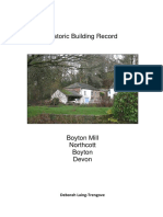 historic buildings report  boyton mill  2016