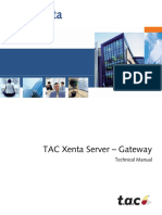 TAC Xenta Server Gateway Technical Manual TAC Xenta 700 5.