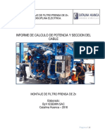 INFORME DEL CALCULO DE POTENCIAS Y SECCION DEL CABLE - FILTRO PRENSA DE Zn..pdf