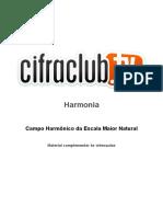 Campo Harmonico Da Escala Maior Natural