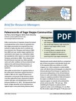 Paleorecords of sage steppe communities