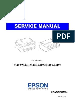 Epson M105 SM   Troubleshooting   Capacitor