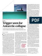 Trigger seen for Antarctic collapse