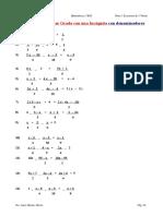 Ecuaciones Con Denominadores 2º ESO