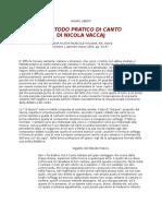 Mauro Ubertiil Metodo Pratico Di Canto Di Vaccai