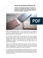 Llegan a Perú los primeros iPhone SE