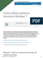 Cómo Solicitar Asistencia Remota en Windows 7