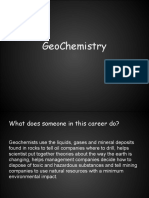 geochemistry career project